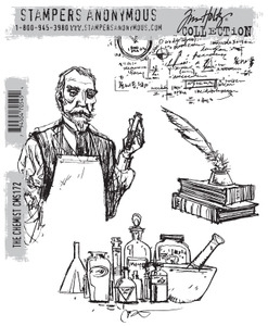 Tim Holtz Cling Rubber Stamps THE CHEMIST cms172 zoom image