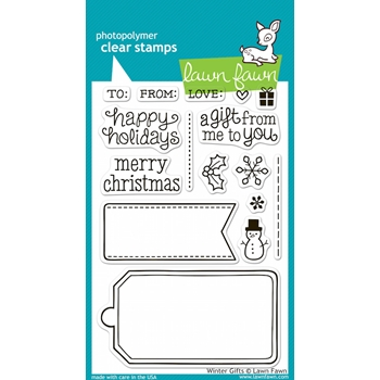 Lawn Fawn WINTER GIFTS Clear Stamps LF566