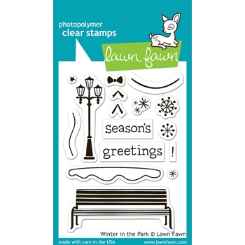 Lawn Fawn WINTER IN THE PARK Clear Stamps LF570