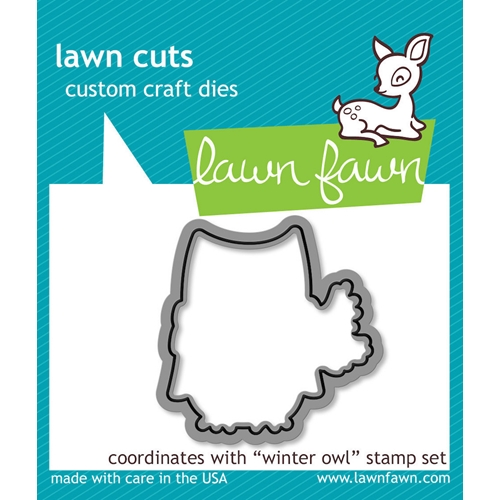 Lawn Fawn WINTER OWL Lawn Cuts Dies LF580 Preview Image