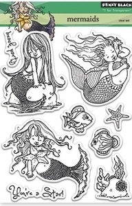 Penny Black Clear Stamps MERMAIDS 30-183* zoom image