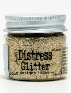 Tim Holtz Distress Glitter ANTIQUE LINEN Ranger TDG39112 zoom image