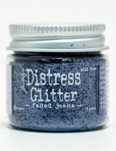 Tim Holtz Distress Glitter FADED JEANS Ranger TDG39167