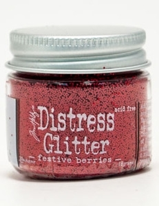 Tim Holtz Distress Glitter FESTIVE BERRIES Ranger TDG39174