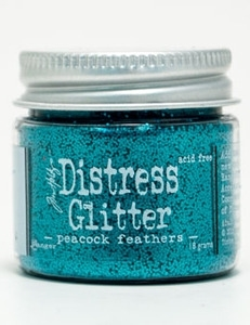 Tim Holtz Distress Glitter PEACOCK FEATHERS Ranger TDG39204 zoom image