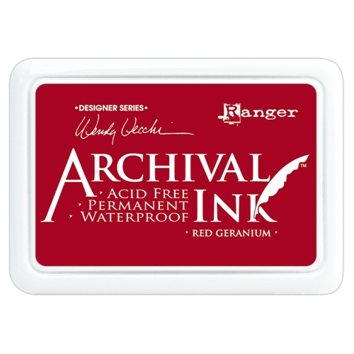 Ranger Wendy Vecchi Archival RED GERANIUM Ink Pad AID38993 Preview Image