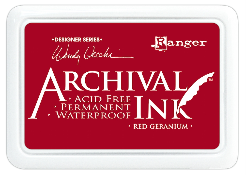 Ranger Wendy Vecchi Archival RED GERANIUM Ink Pad AID38993 zoom image