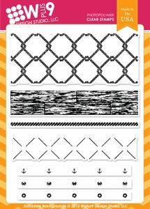 Wplus9 DOCKSIDE BACKGROUNDS Clear Stamps CL-WP9DB