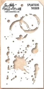 Tim Holtz Layering Stencil SPLATTERS THS009 Preview Image