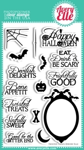 Avery Elle Clear Stamps TWISTED TREATS Set 020726