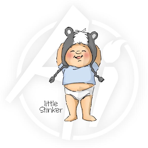 Art Impressions LITTLE STINKER Cling Rubber Stamp Preview Image