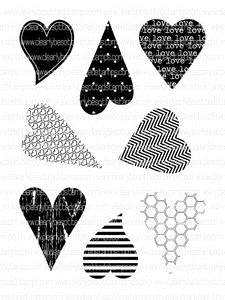 Clearly Besotted MINI LOVE HEARTS Clear Stamp Set
