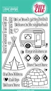 Avery Elle Clear Stamps HOME SWEET HOME Set 020436