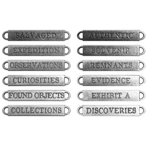 Tim Holtz Idea-ology Metal Word Bands OBSERVATIONS TH93084 zoom image