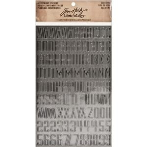 Tim Holtz Idea-ology DECO TYPE Industrious Stickers TH93090