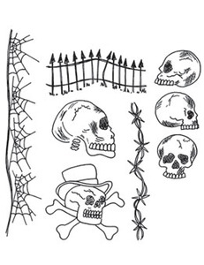 Dyan Reaveley DAY OF THE HEADS Cling Stamp Set DYR38320