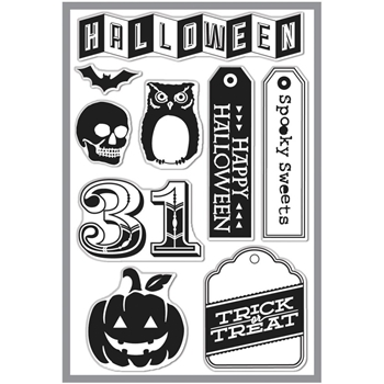 Hero Arts Clear Stamps HALLOWEEN 31 cl703 BasicGrey*