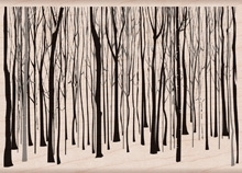 Hero Arts Rubber Stamp WINTER TREES PATTERN k5814 zoom image
