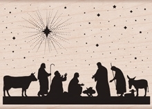 Hero Arts Rubber Stamp NATIVITY k5817