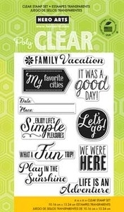 Hero Arts Clear Stamps FAMILY VACATION cl716