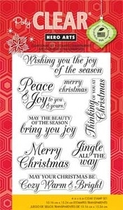 Hero Arts Clear Stamps cl722 MERRY CHRISTMAS MESSAGE