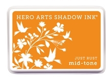 Hero Arts Shadow Ink Pad JUST RUST Orange Mid-Tone AF256