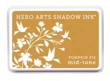 Hero Arts Shadow Ink Pad PUMPKIN PIE Orange Mid-Tone AF255