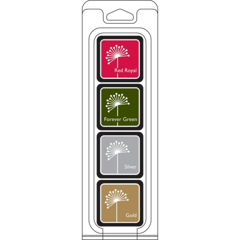 Hero Arts Mini CUBE INK PADS Set CHRISTMAS af254 zoom image