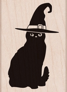 Hero Arts Rubber Stamp HALLOWEEN CAT f5823 Preview Image