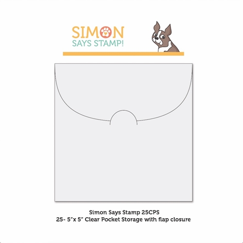Simon Says Stamp CLEAR POCKETS Storage 5 inches x 25 25CPS Preview Image