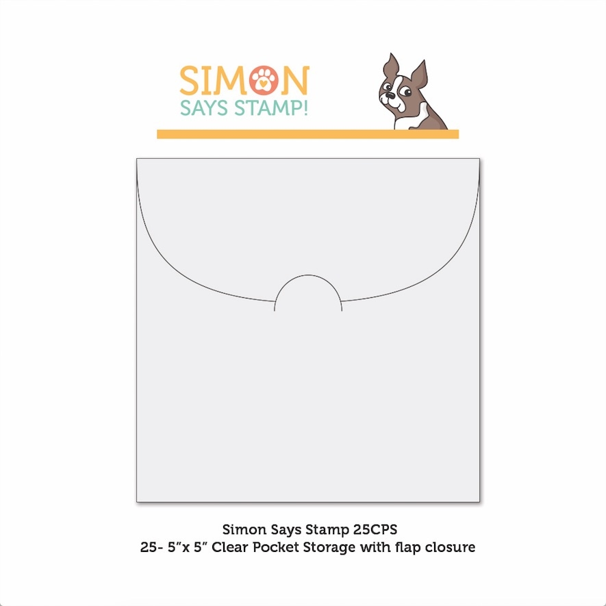 Simon Says Stamp CLEAR POCKETS Storage 5 inches x 25 25CPS zoom image