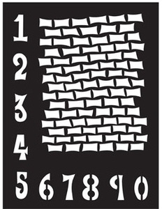 Dyan Reaveley Stencil 9 x 12 STAGGERED BRICKWORK Dylusions DYS38405 Preview Image