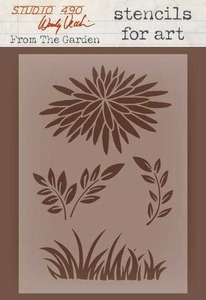 Wendy Vecchi Stencils For Art FROM THE GARDEN Studio 490 WVSFA023