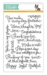 Simon Says Clear Stamps HANDWRITTEN GREETINGS SSS101349