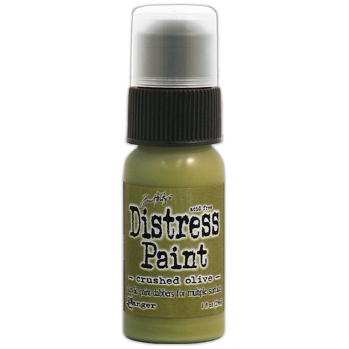 Tim Holtz Distress Paint CRUSHED OLIVE Ranger TDD38504 Preview Image
