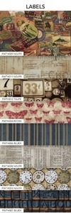 Tim Holtz Fabric Eclectic Elements 14743 LABELS 8PC FAT EIGHTH