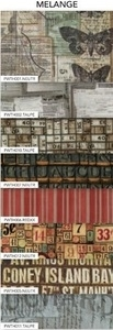 Tim Holtz Fabric Eclectic Elements 14753 MELANGE 8PC CHARM PACK