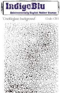 IndigoBlu Cling Stamp CRACKLEGLAZE BACKGROUND Rubber UM CBI Preview Image