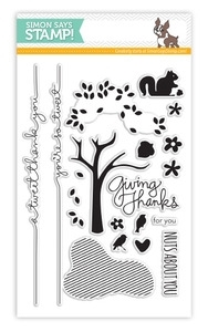 Simon Says Clear Stamps GIVING THANKS SSS131001 *
