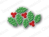 Impression Obsession Steel Dies HOLLY LEAF CLUSTER DIE098-A Preview Image