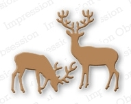 Impression Obsession Steel Dies SMALL DEER DIE117-C zoom image