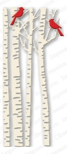 Impression Obsession Steel Dies BIRCH TREES DIE079-U