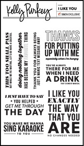 Kelly Purkey Clear Stamps I LIKE YOU YOU913
