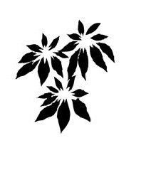 Tim Holtz Rubber Stamp DECO POINSETTIA Stampers Anonymous H2-2208