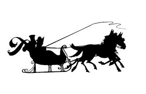Tim Holtz Rubber Stamp DECO SLEIGH RIDE Stampers Anonymous P2-2211 zoom image