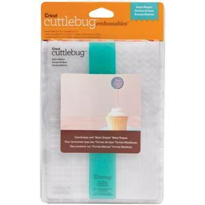 Cuttlebug 5 x 7 Embossing Folders BASIC SHAPES Provo Craft*