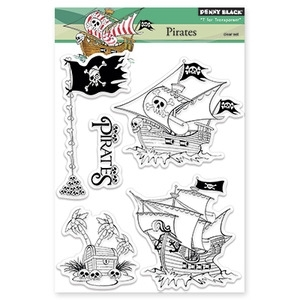 Penny Black Clear Stamps PIRATES 30-186