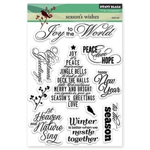 Penny Black Clear Stamps SEASON'S WISHES 30-201 zoom image