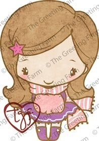 The Greeting Farm HOLIDAY ANYA 3 Cling Rubber Stamp