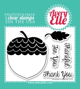 Avery Elle Clear Stamps THANKFUL Set 020696*